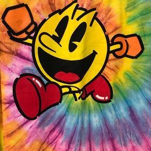 PacSun Tops - PAC Man Large T-shirt tie dye